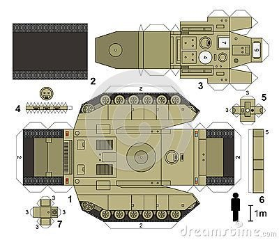 Papercraft Tank Template Paper Fire Engine Model