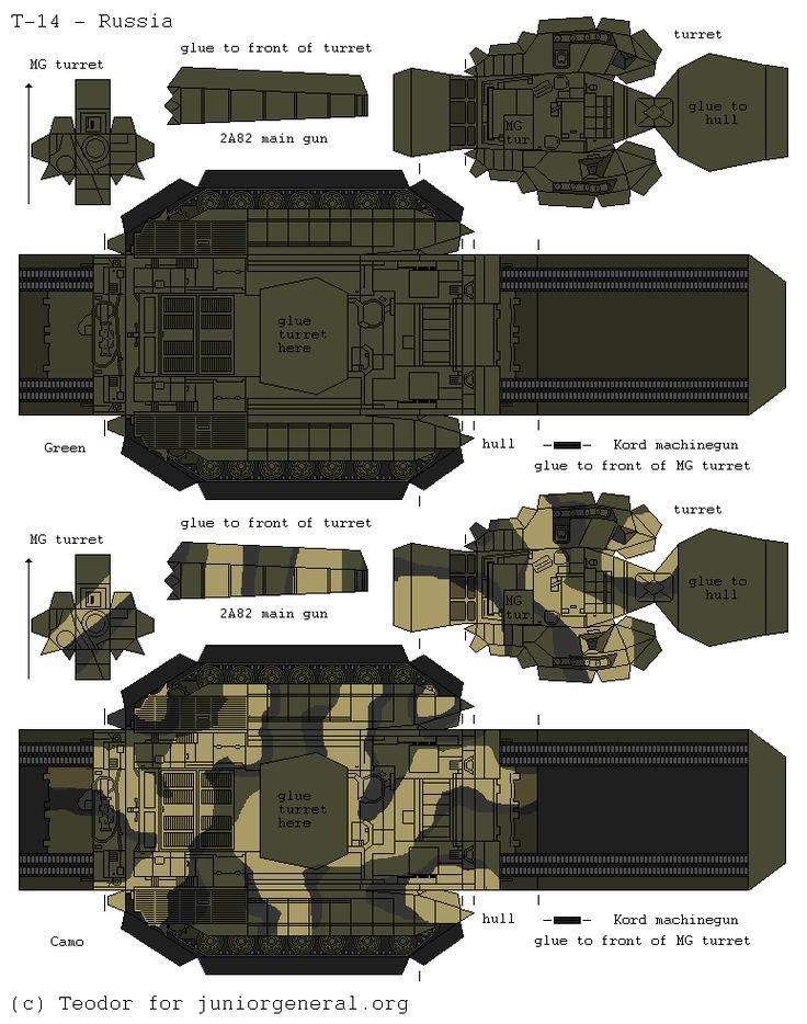 Papercraft Tank Template Russian T 14 Armata 3d Fold Up