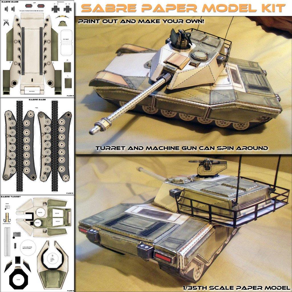 Papercraft Tank Template Sabre Mbt Papercraft Model Spyker Enterprise