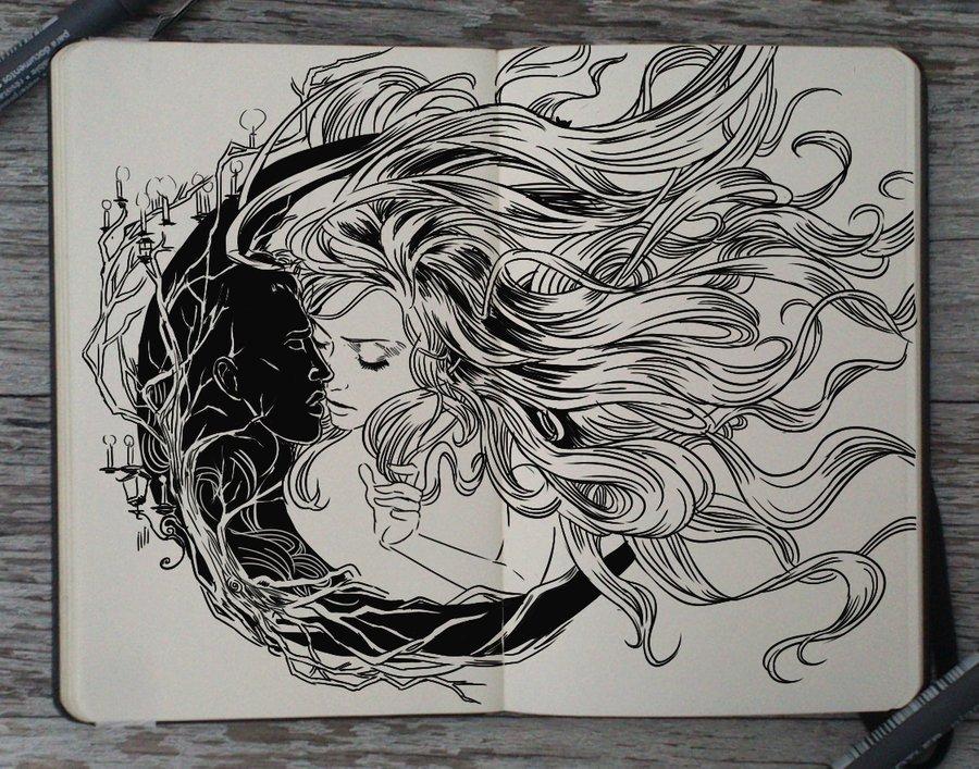 Pencil Drawings Of Love 186 forbidden Love by Picolo Kun On Deviantart