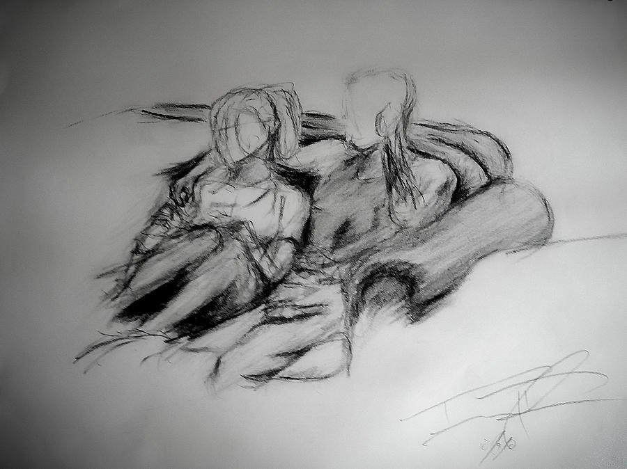 Pencil Drawings Of Love Lost Love Drawing by Daniel Raul Parra