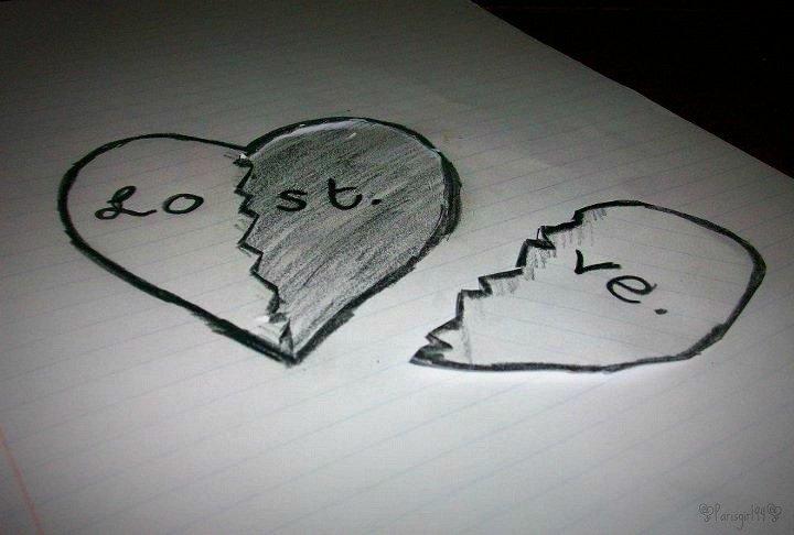 Pencil Drawings Of Love Love Lost by Parisgirl94 On Deviantart