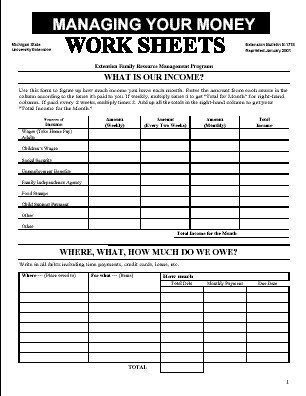 Personal Financial Statement Worksheet Personal Finance Worksheets