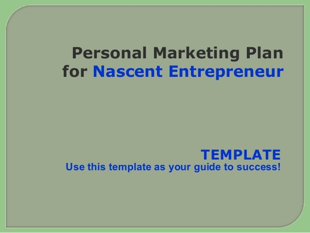 Personal Marketing Plan Example Personal Marketing Plan for the Small Business Owner