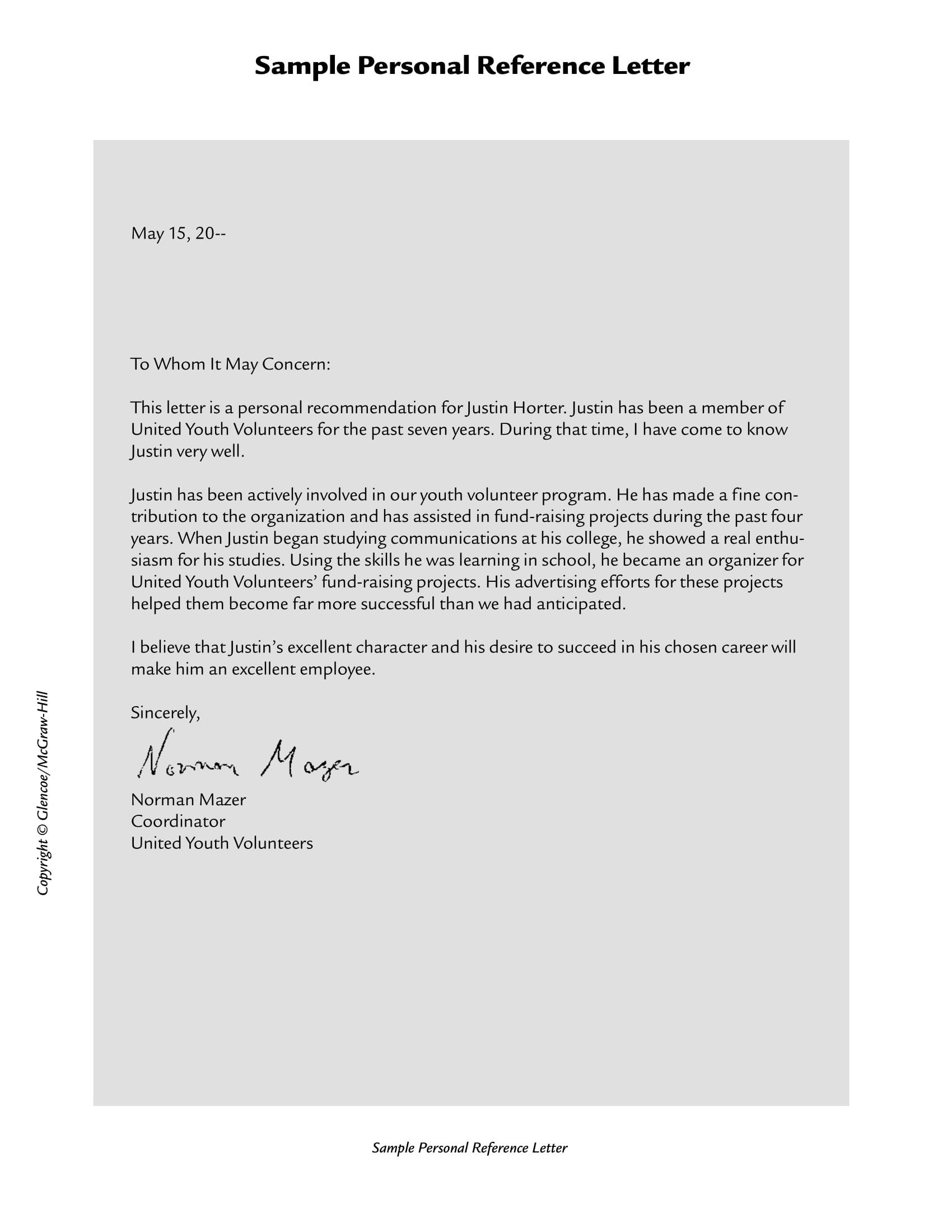 Personal Recommendation Letter Template 10 Personal Re Mendation Letter Examples Pdf Word
