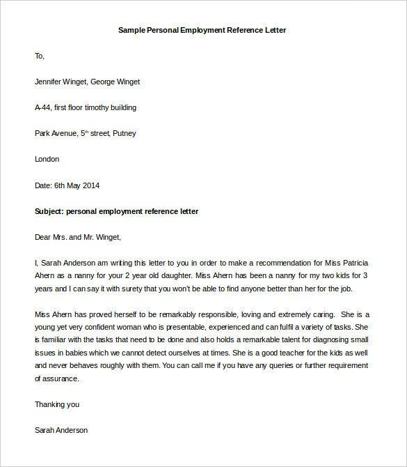 44 Personal Letter Templates PDF DOC