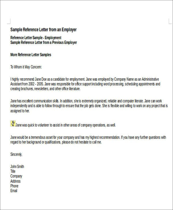 Personal Recommendation Letter Template 7 Sample Personal Re Mendation Letter Free Sample