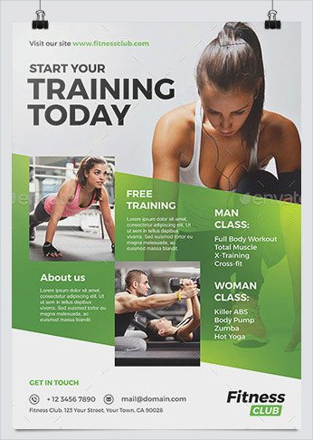 Personal Trainer Flyer Template Best Fitness Business Flyers for Gym Marketing Hollymolly
