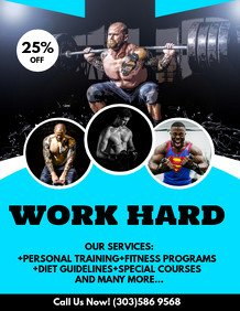 Personal Trainer Flyer Template Customize 1 980 Fitness Poster Templates