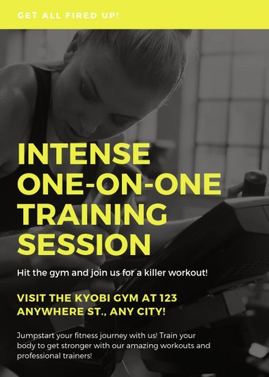 Personal Trainer Flyer Template Customize 65 Fitness Flyer Templates Online Canva