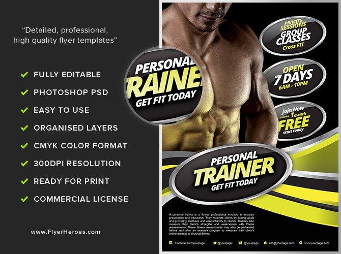 Personal Fitness Flyer Template FlyerHeroes