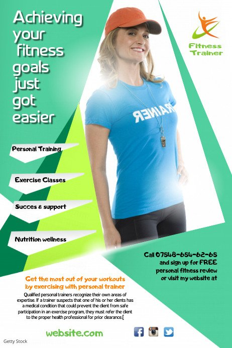 Personal Trainer Flyer Template Personal Trainer Flyer Template