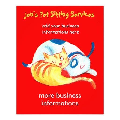 Jen s Pet Sitting Services flyer