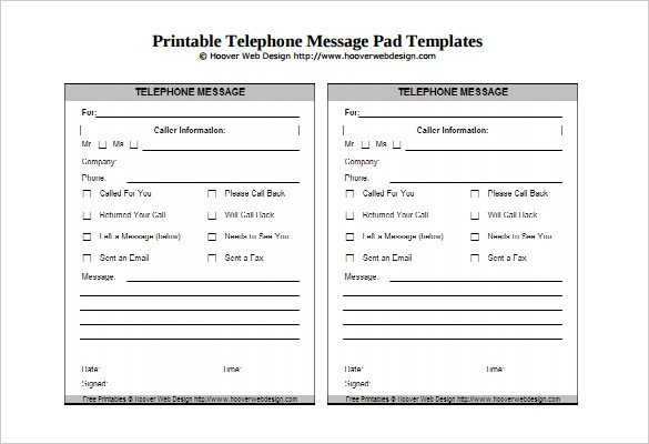 Phone Message Pad Template 19 Message Template Free Word Pdf Documents Download