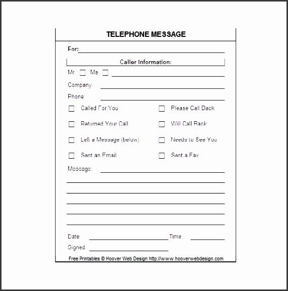 Phone Message Pad Template 5 Printable Telephone Message Template Sampletemplatess