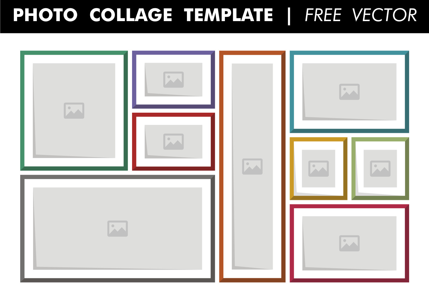Photo Collage Template Download Collage Template Free Vector Download Free Vector