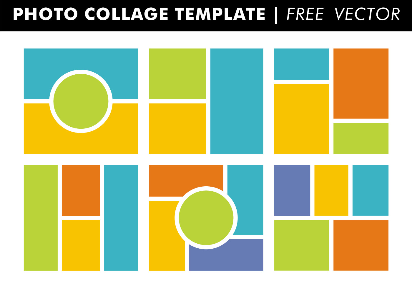 Photo Collage Template Download Collage Templates Vector Download Free Vector Art
