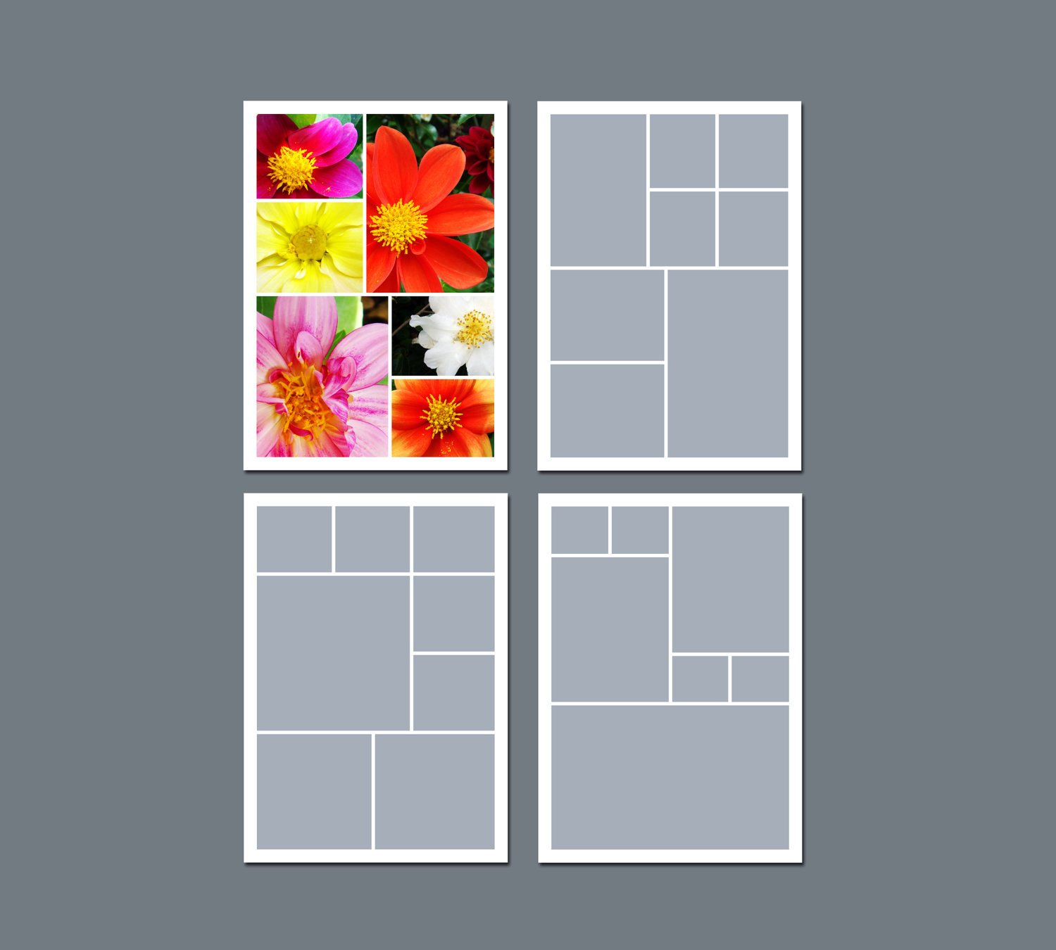 Photo Collage Template Download Instant Download Collage Template Digital Template