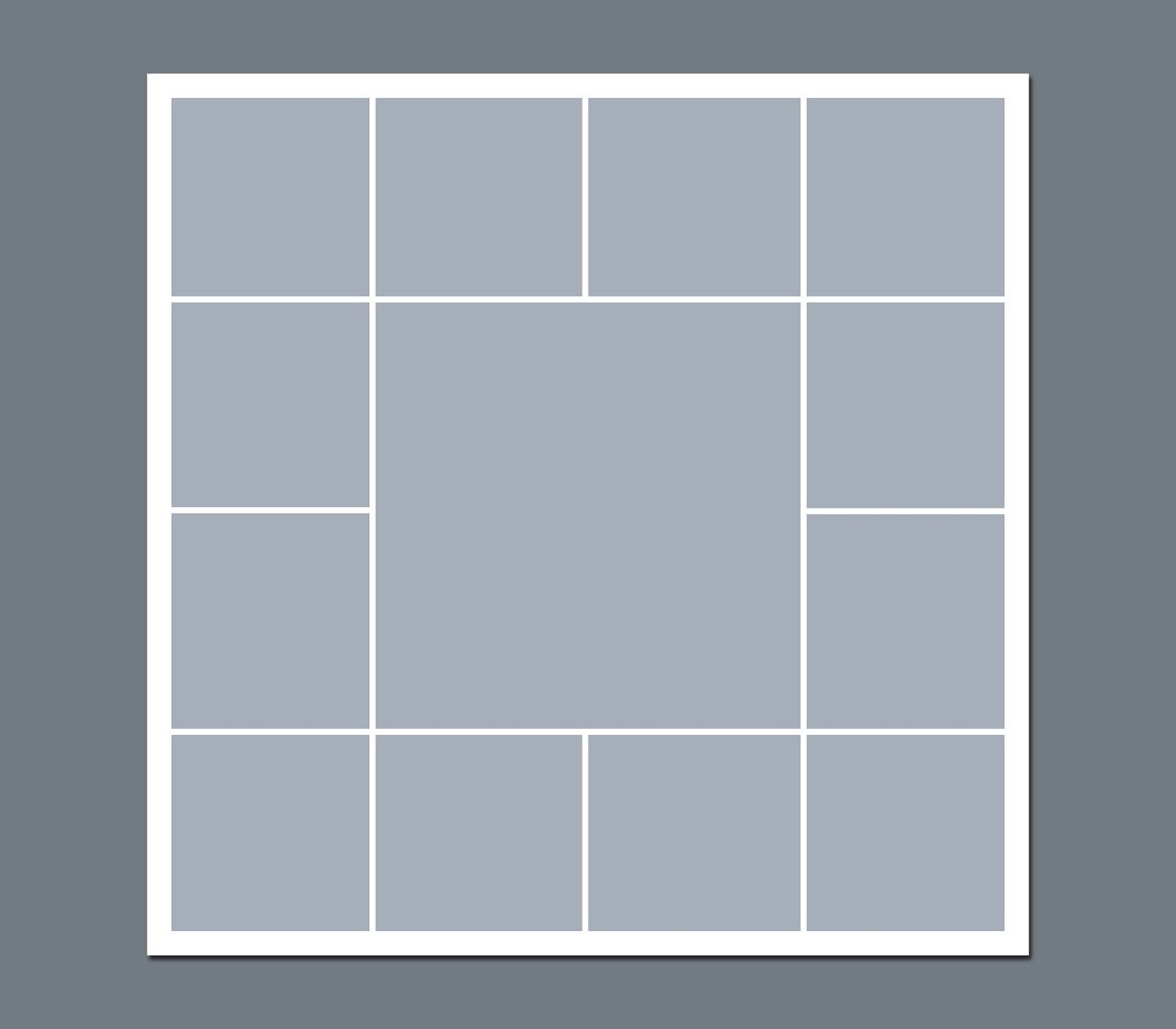 Photo Collage Template Download Instant Download Storyboard Graphers Template