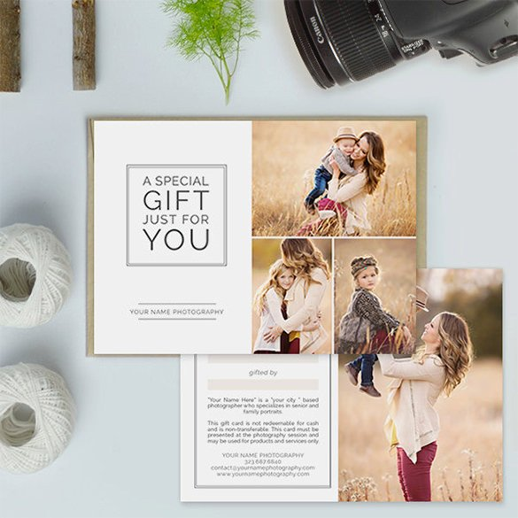 Photography Gift Certificate Template Gift Card Template 14 Free Sample Example format