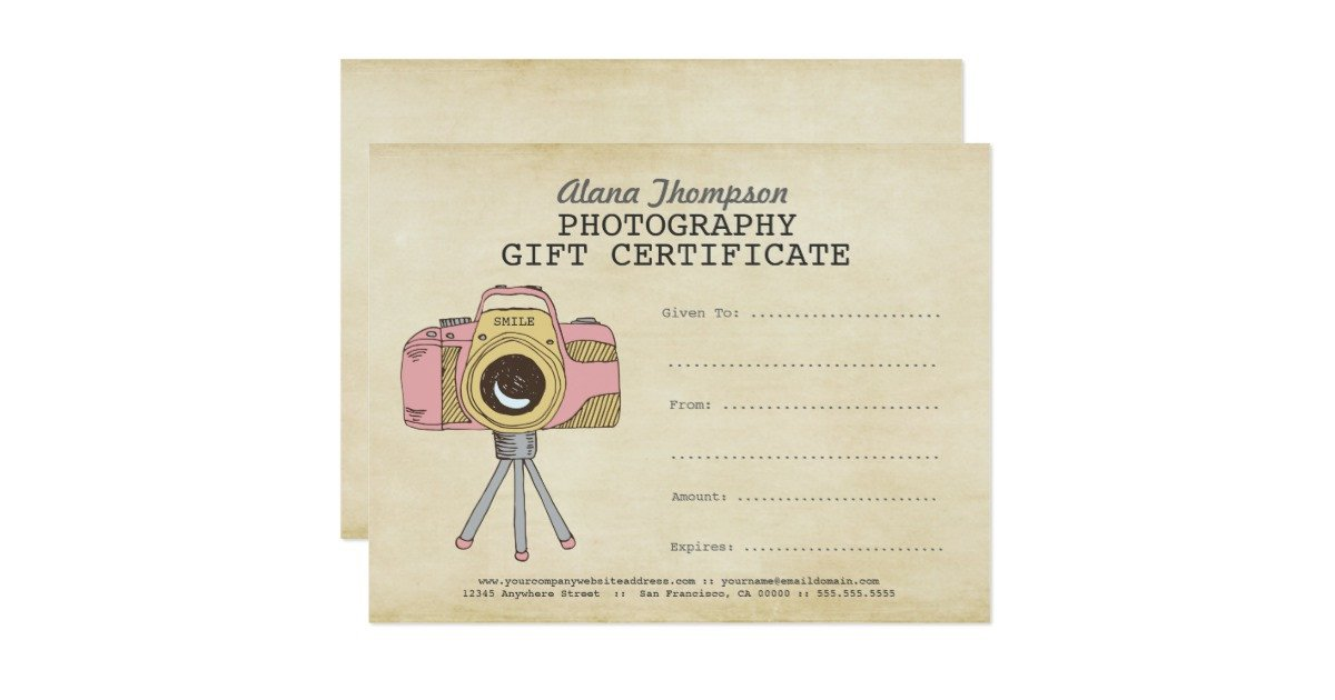 Photography Gift Certificate Template Grapher Graphy Gift Certificate Template Card