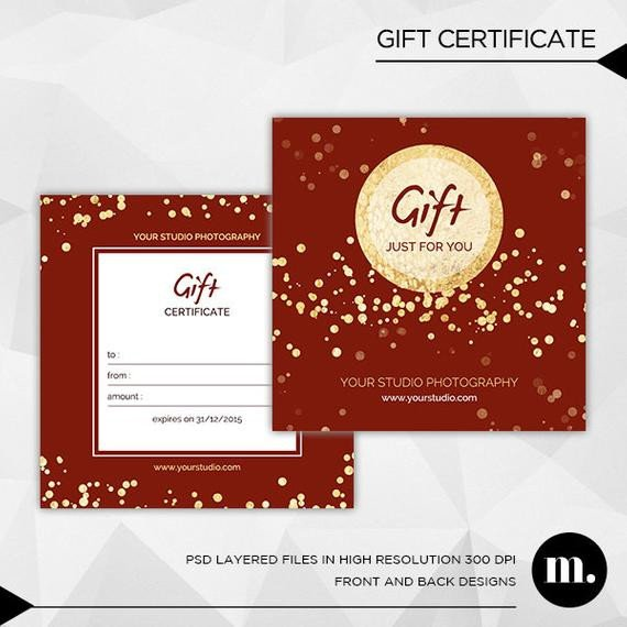 Photography Gift Certificate Template Graphy Christmas Gift Certificate Template for by