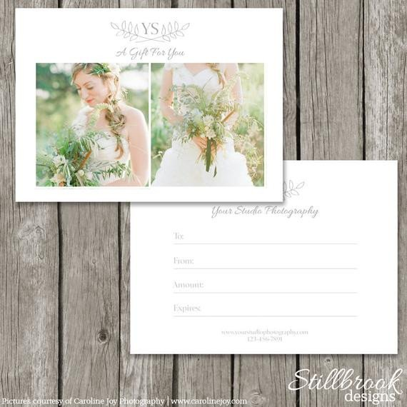 Photography Gift Certificate Template Graphy Gift Card Template Gift Certificate Marketing