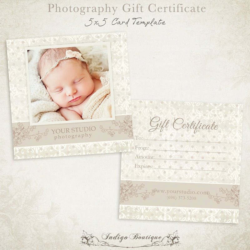 Photography Gift Certificate Template Graphy Gift Certificate Photoshop Template 007 Id0105