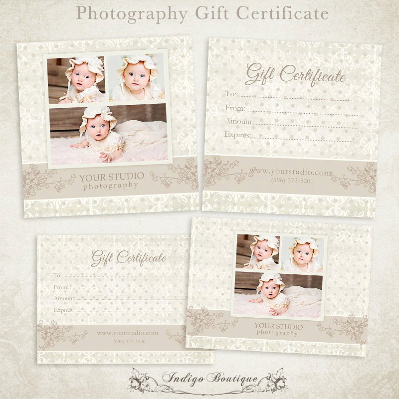 Photography Gift Certificate Template Graphy Gift Certificate Photoshop Template by