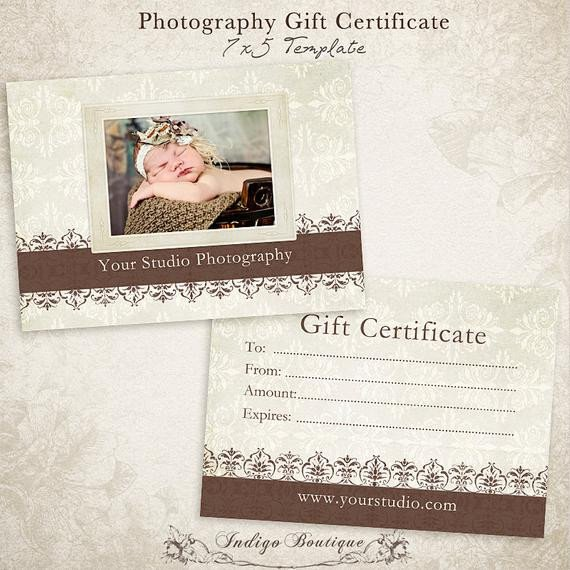 Photography Gift Certificate Template Graphy Gift Certificate Photoshop Template Id046