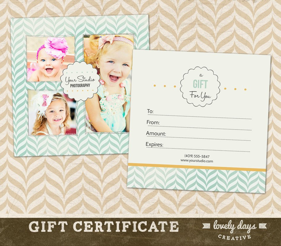 Photography Gift Certificate Template Graphy Gift Certificate Template for by