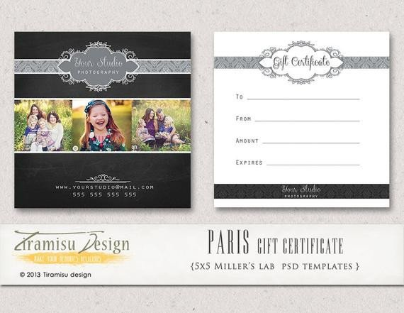 Photography Gift Certificate Template Items Similar to Graphy Gift Certificate Photoshop