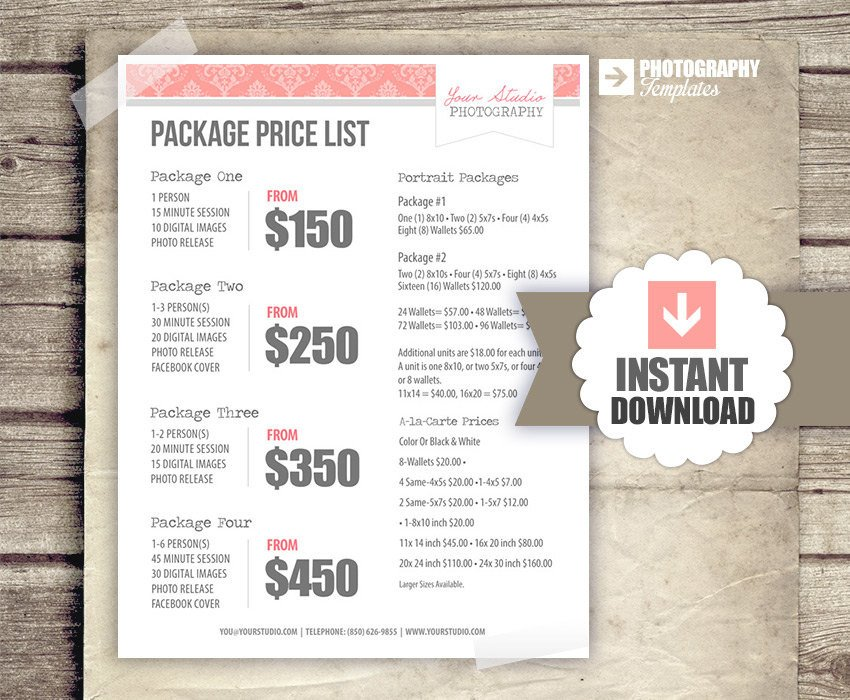 graphy Price List Pricing List for graphers