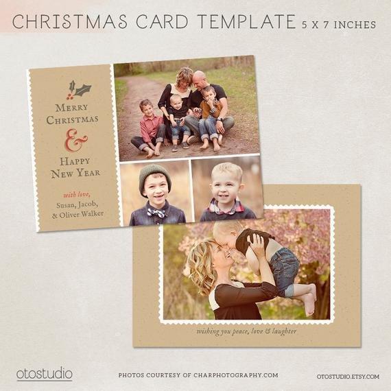 Digital shop Christmas Card Template for photographers