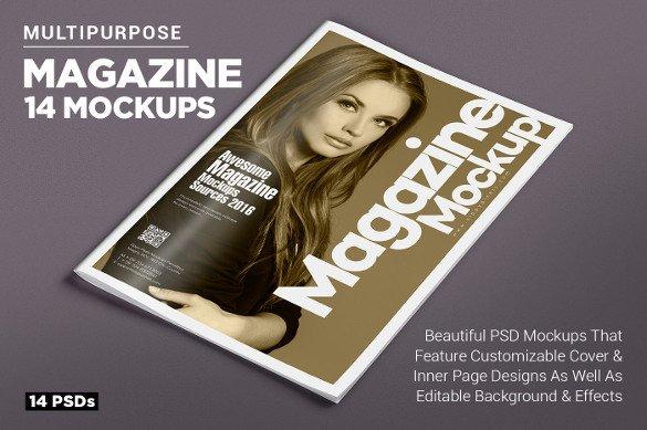Magazine Cover PSD Templates 54 Free PSD AI Vector