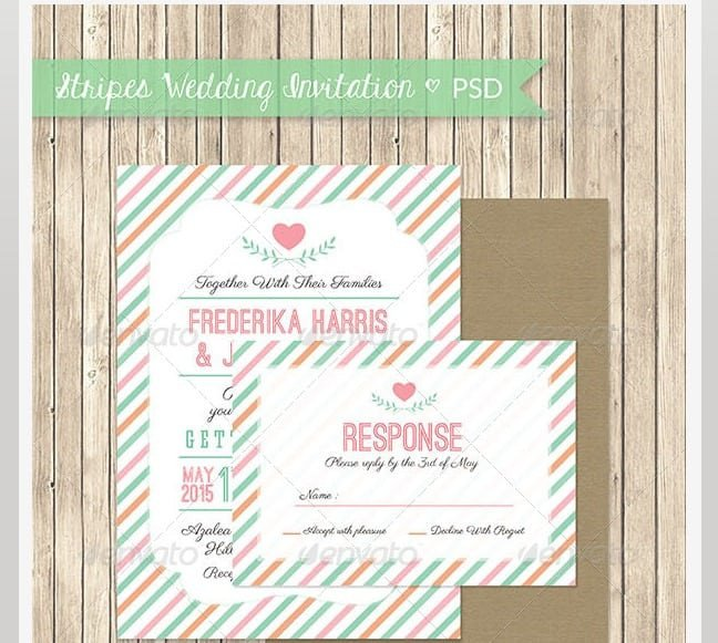Marriage Invitation Model Psd