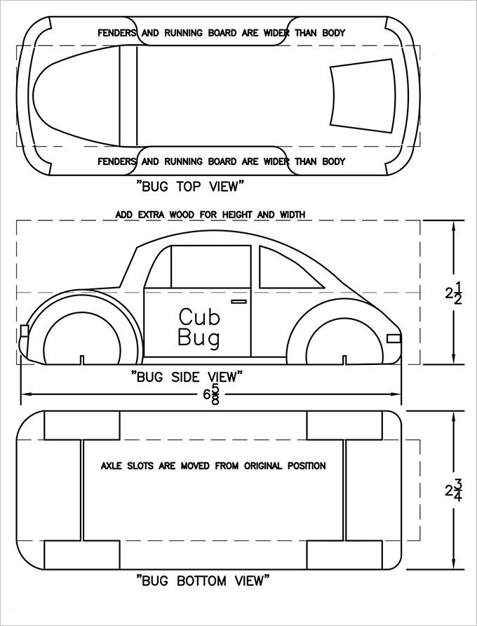 Pinewood Derby Car Templates 27 Awesome Pinewood Derby Templates – Free Sample