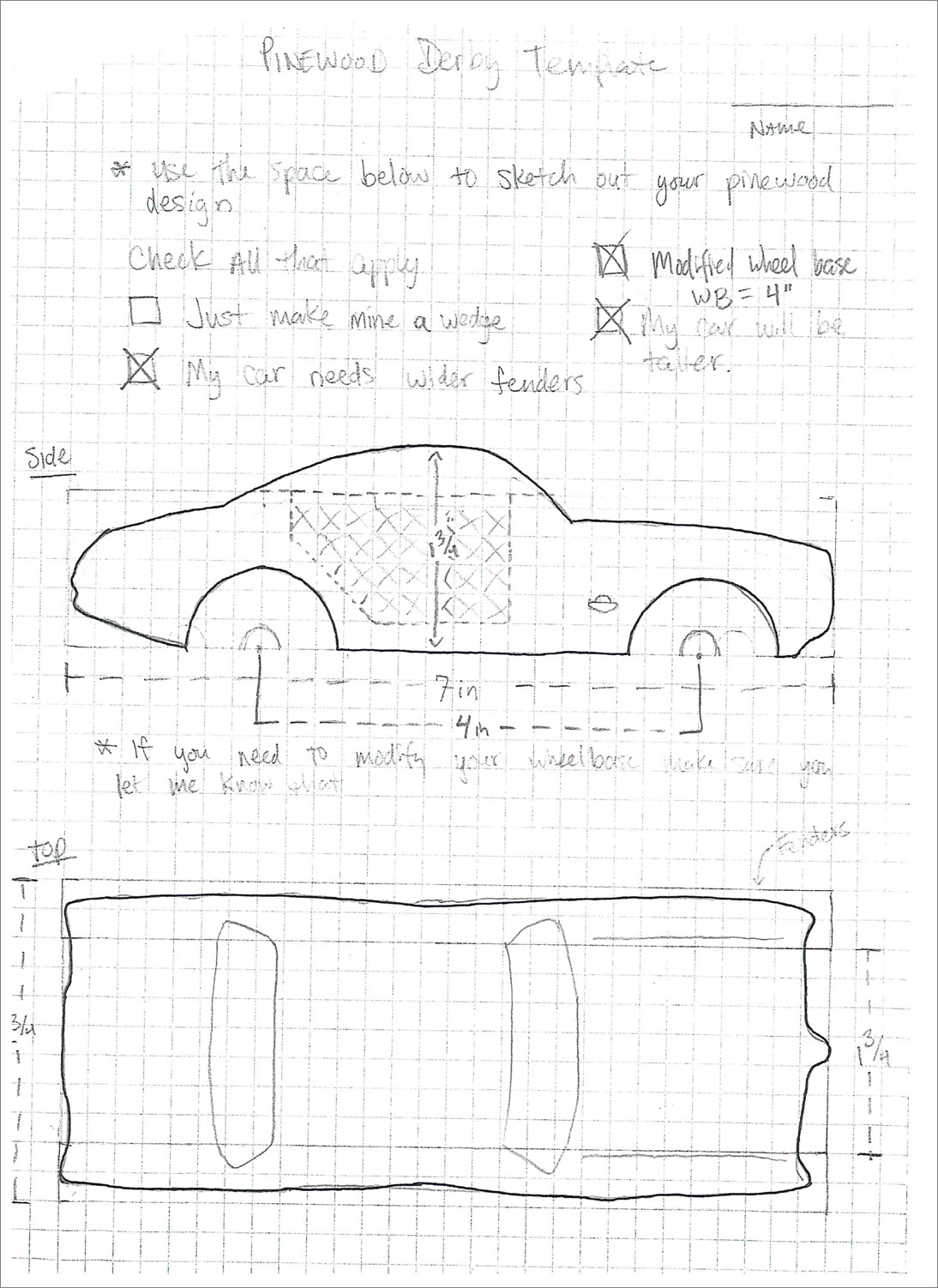 Pinewood Derby Car Templates Bonus Sketchup assignment Pinewood Derby