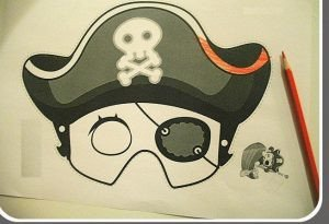 Pirate Mask Template Pirate Crafts for Preschoolers