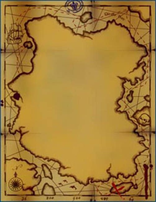 "Pirate Treasure Map Template ""pirate Map Invitations"" by Greg Starks"
