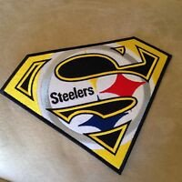 "Pittsburgh Steelers Superman Logo 5"" Pittsburgh Steelers Superman Logo Nfl Football Team"