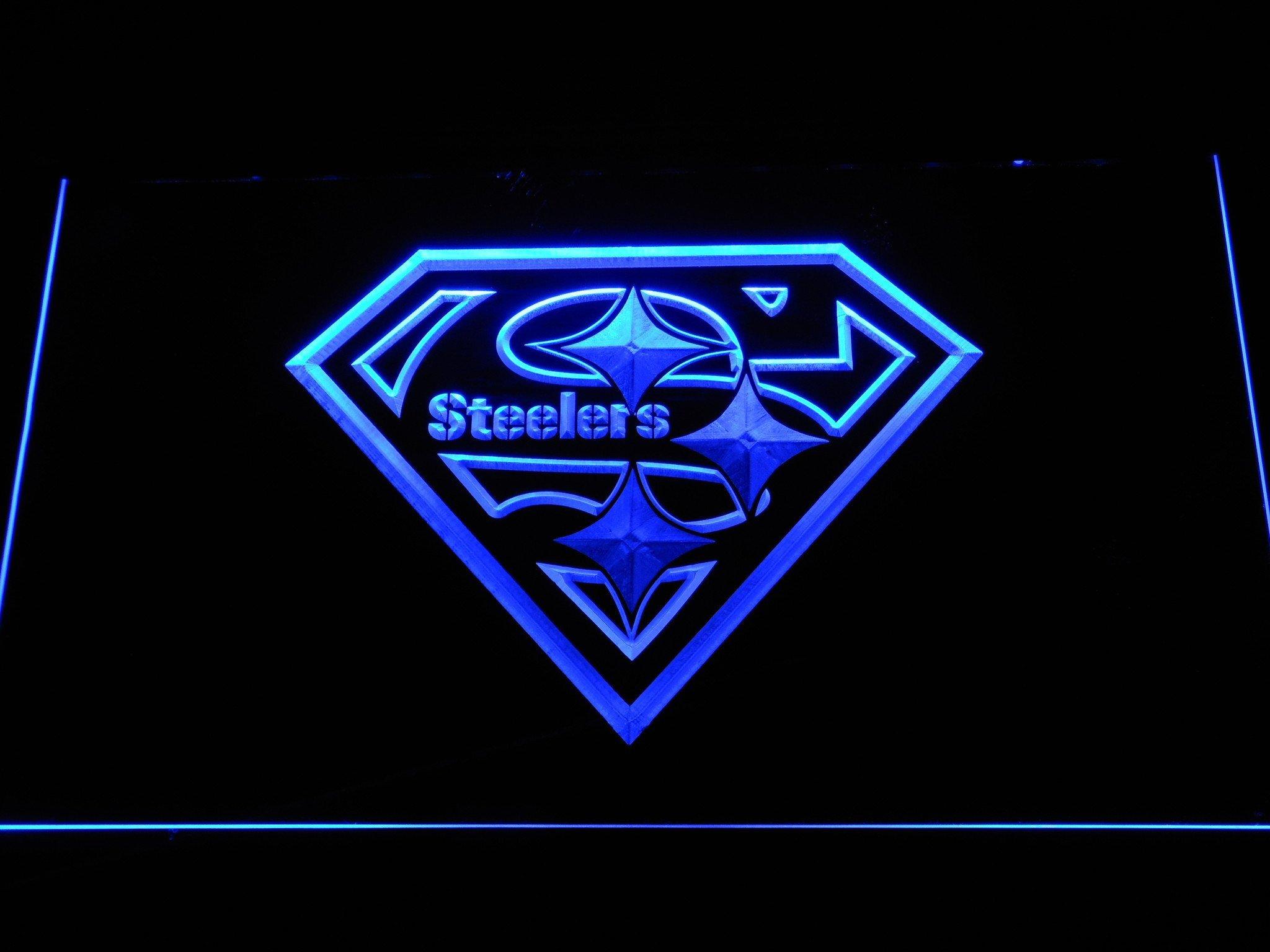 Pittsburgh Steelers Superman Logo Pittsburgh Steelers Superman Led Neon Sign