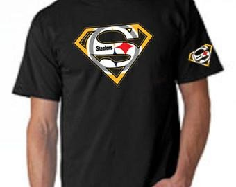Pittsburgh Steelers Superman Logo Popular Items for Steelers Tshirt On Etsy