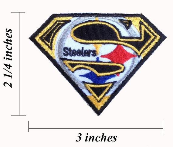 Pittsburgh Steelers Superman Logo Superman Pittsburgh Steelers Logo Embroidered Iron by