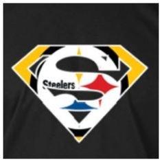 Pittsburgh Steelers Superman Logo White Custom Pittsburgh Steelers Superman Tee Tshirt