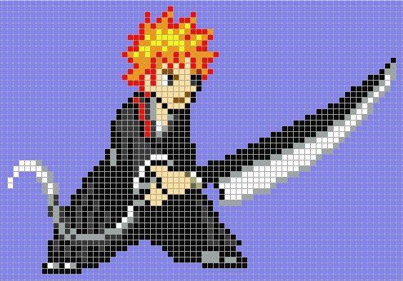 Pixel Art Grid Anime Minecraft Anime Pixel Art