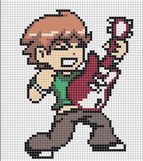 Pixel Art Grid Anime Scott Pilgrim General Pixel Art to Do