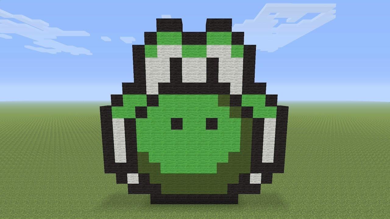 Minecraft Pixel Art Yoshi Head