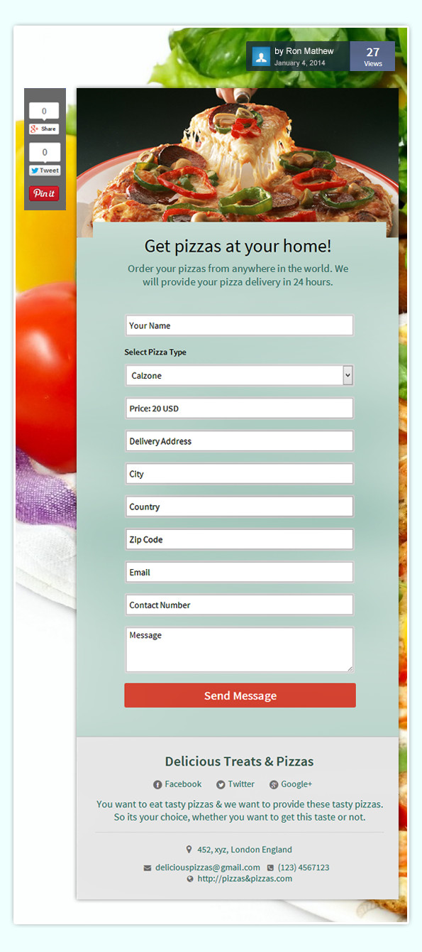 Pizza order form Template How to Maximize Sales Your Services Through Your forms