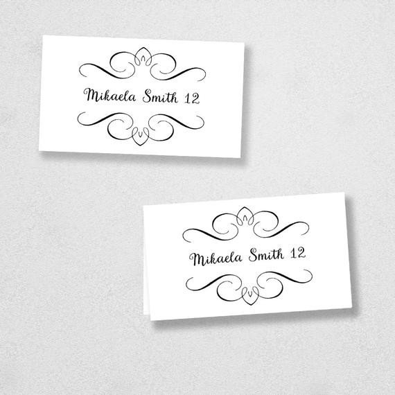 Place Card Template Free Avery Place Card Template Instant Download Escort Card